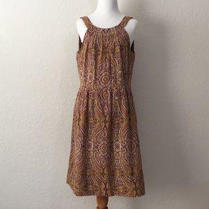 J.Crew sleeveless dress paisley print size 10